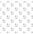 mandrill pattern seamless vector image