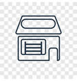 market concept linear icon isolated on vector image