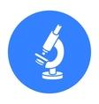Microscope icon black Single medicine icon from vector image vector image