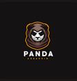 panda gaming sport logo design vector image vector image