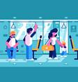 passengers inside bus vector image