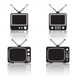 Retro TV sets collection vector image