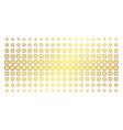 roulette gold halftone grid vector image