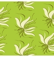 seamless lily vector image vector image