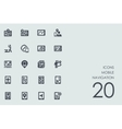 Set of mobile navigation icons vector image