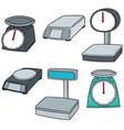 set of weighing machine vector image