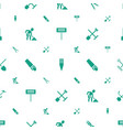 shovel icons pattern seamless white background vector image vector image
