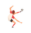 soccer player professional football player vector image
