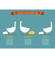 Special goose different through a group of vector image