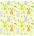 Stylish colorful seamless with rabbits vector image vector image
