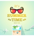 summer poster its time typographic vector image vector image