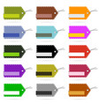 tag blank design set collection in various color vector image vector image