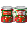 Tomato paste in aluminum can vector image vector image