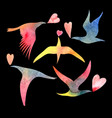 watercolor bird lovers vector image vector image