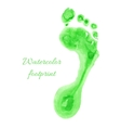 Watercolor children foot vector image vector image