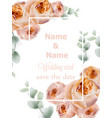 Wedding card roses vintage decor design frame