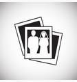 wedding photo cards icon on white background for vector image