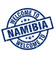 welcome to namibia blue stamp vector image vector image