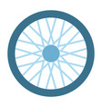 wheel with needles icon flat isolated vector image
