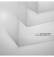 White cubes isolated on white backgroun vector image