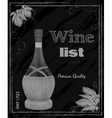 Wine list chalkboard vector image