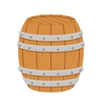 wooden barrel icon image design vector image
