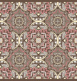 abstract arabesque ethnic vintage seamless pattern vector image vector image