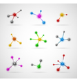 abstract molecules set vector image vector image