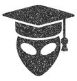 Alien Scientist Grainy Texture Icon vector image vector image
