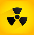 background with radiation symbol shadow with vector image