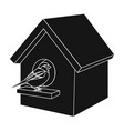 birdhouse single icon in black stylebirdhouse vector image
