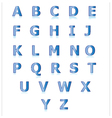 Blue alphabet set a to z vector image