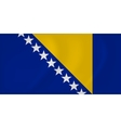 Bosnia and Herzegovina waving flag vector image vector image