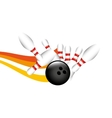 bowling sport design vector image vector image