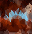 brown blue polygonal triangular pattern background vector image vector image