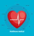 cardiology heart healthcare medical vector image vector image