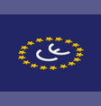 ce mark ce symbol on flag europe isometric design vector image