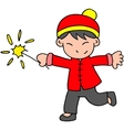 Character of boy with fireworks vector image vector image