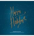 Christmas handwritten lettering vector image