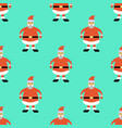christmas seamless pattern with greeting santa vector image vector image