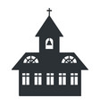 church building silhouette vector image vector image