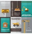 Construction Poster Set vector image