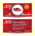 Discount voucher template with colorful