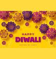 diwali festival typographic design vector image