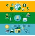 Eco energy horizontal banners set vector image vector image