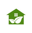 eco-friendly green house vector image