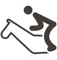 equestrian icon vector image vector image