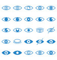 eye blue icons set on white background for graphic vector image