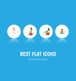 flat icon pregnant set of fitness meditation vector image vector image