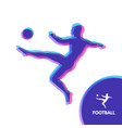 football player with ball sports concept design vector image vector image